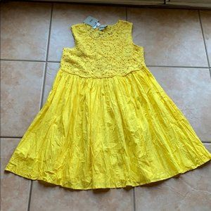 NWT ASOS Yellow Lace Bust Crinkle Mini Dress 8